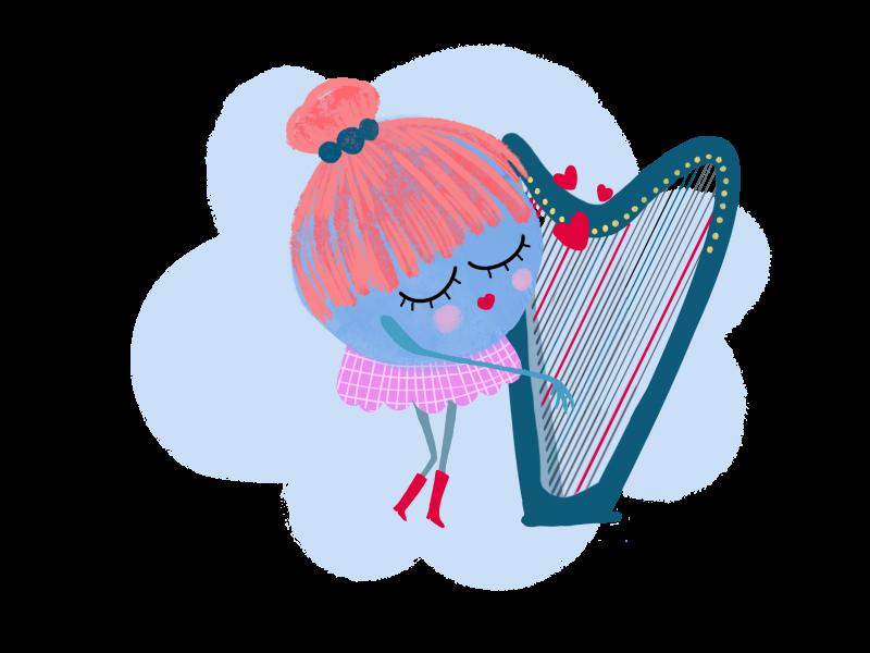Harpes en piste · musique